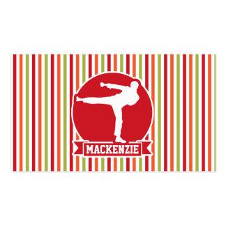 Karate, Martial Arts; Red, Green, Orange Stripes Pack Of Standard Business Cards