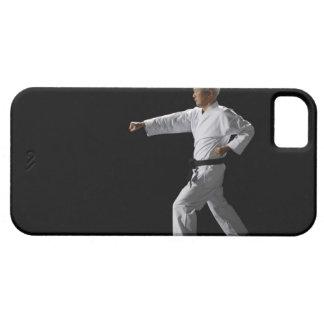 Karate master demonstrating, studio shot iPhone 5 cover