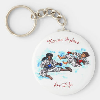 karate men fighting tournament battle key ring