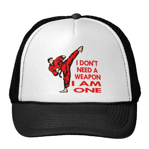 Karate, MMA, I AM A Weapon Mesh Hat