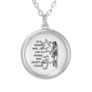 Karate Mom Round Pendant Necklace