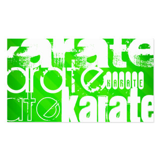 Karate; Neon Green Stripes Pack Of Standard Business Cards