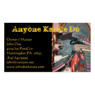 Karate One Business Card Templates
