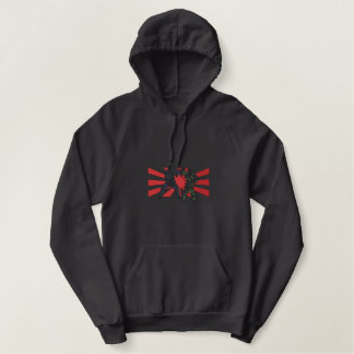 Karate Outline Embroidered Hoodie