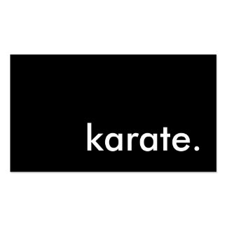 karate. pack of standard business cards