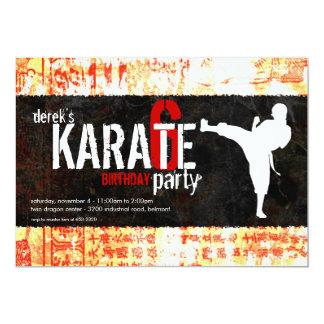 Karate Party Invitation