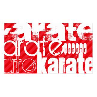 Karate; Scarlet Red Stripes Pack Of Standard Business Cards