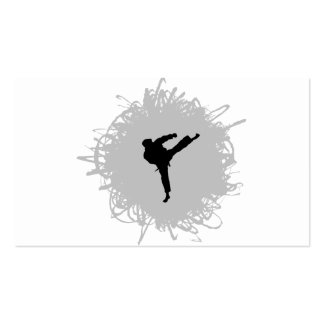 Karate Scribble Style Pack Of Standard Business Cards