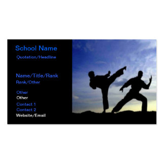 Karate Sky Pack Of Standard Business Cards