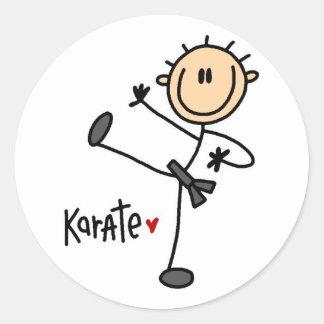 Karate Stick Figure Stickers