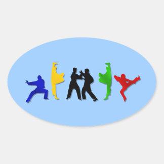 Karate Taekwando MMA Martial Arts Mens Athlete Oval Sticker