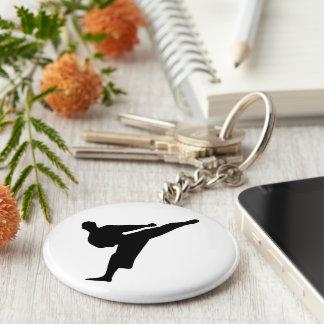 Karate / Taekwondo Kick Button Keychain