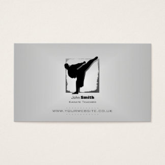 Karate Teacher Business Card