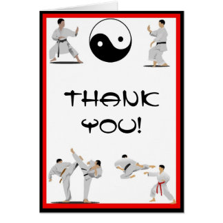 Karate Thank You Note Card