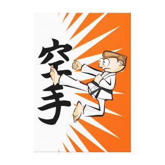Karate the Japanese martial art Canvas Print