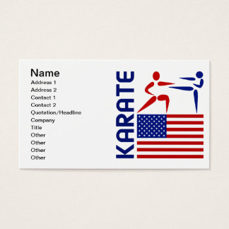 Karate United States Business Card