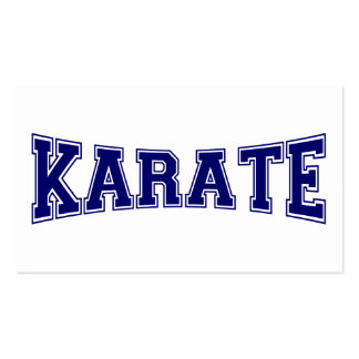 Karate University Style Pack Of Standard Business Cards