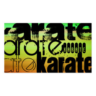 Karate; Vibrant Green, Orange, & Yellow Pack Of Standard Business Cards