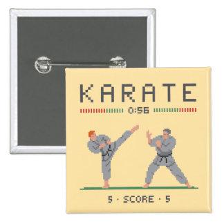 Karate Video Game 15 Cm Square Badge