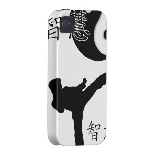 Karate Yin & Yang iPhone 4 Case-Mate Tough