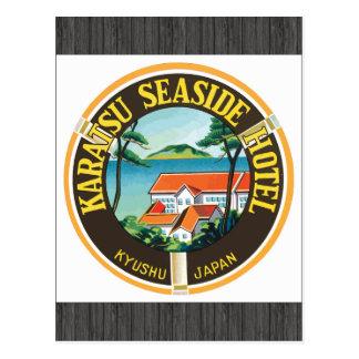 Karatsu Seaside Hotel Kyushu Japan, Vintage Postcard