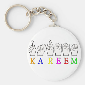 KAREEM ASL FINGERSPELLED NAME SIGN DEAF KEY RING