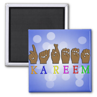 KAREEM ASL FINGERSPELLED NAME SIGN DEAF MAGNET