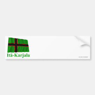Karelia Waving Flag with Name in Finnish Bumper Sticker
