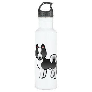 Karelian Bear Dog Cartoon 710 Ml Water Bottle