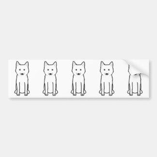 Karelo-Finnish Laika Dog Cartoon Bumper Sticker