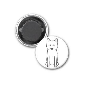 Karelo-Finnish Laika Dog Cartoon Magnet