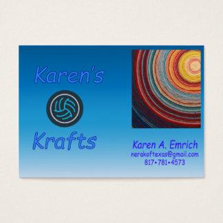 Karen's Krafts Business Cards - Chubby