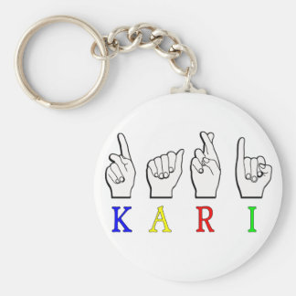 KARI FINGERSPELLED ASL NAMESIGN KEYCHAIN