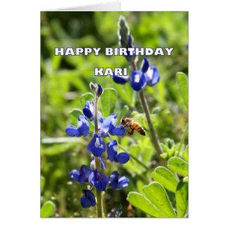 Kari Texas Bluebonnet Happy Birthday Greeting Card