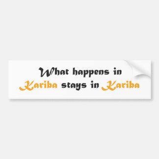 Kariba Bumper Sticker
