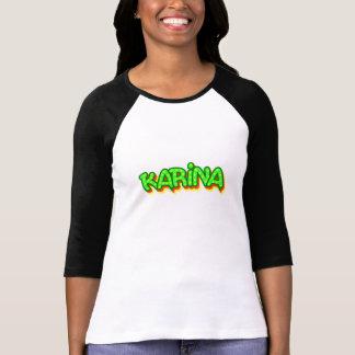 Karina Graffiti Raglan T-Shirt, White Medium