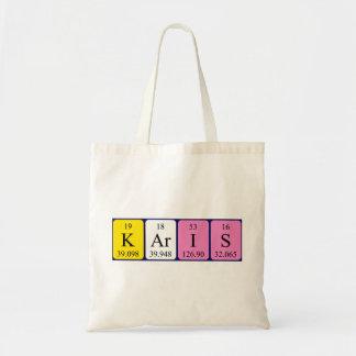 Karis periodic table name tote bag