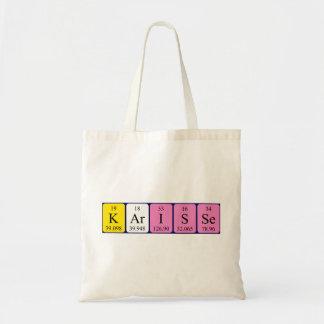 Karisse periodic table name tote bag
