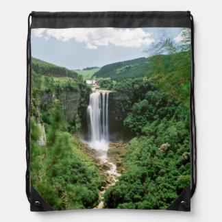 Karkloof Falls, Karkloof Nature Reserve Drawstring Backpacks