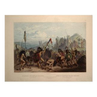 Karl Bodmer- Buffalo-Dance of the Mandan Indians Postcard