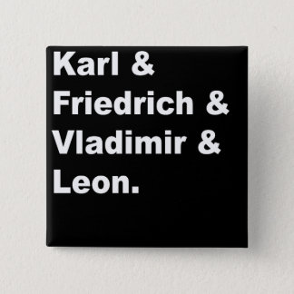 Karl & Friedrich & Vladimir & Leon 15 Cm Square Badge