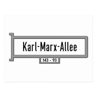 Karl-Marx-Allee, Berlin Street Sign Postcard