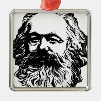 Karl Marx - Communism Silver-Colored Square Decoration