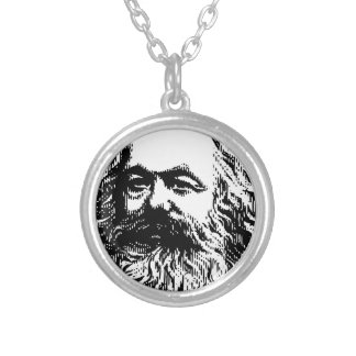 Karl Marx - Communism Silver Plated Necklace