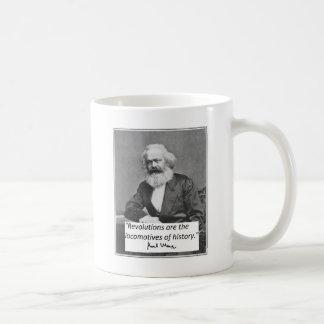 """Karl Marx Mug: """"Revolutions"""" Basic White Mug"""