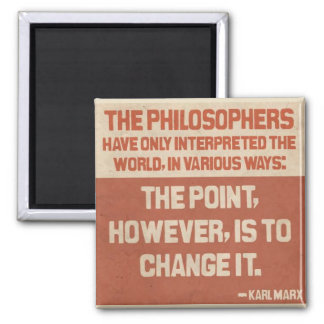Karl Marx quote button Magnet
