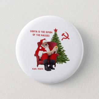 Karl Marx Santa 6 Cm Round Badge