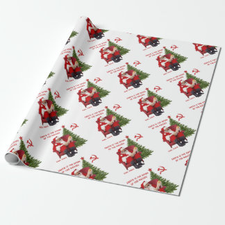 Karl Marx Santa Wrapping Paper