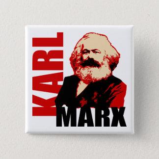 Karl Marx, Socialist & Communist 15 Cm Square Badge