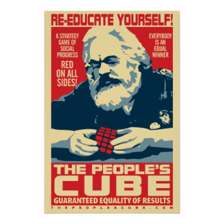 Karl Marx - The People's Cube: OHP Poster
